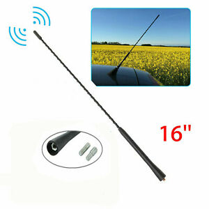 16 Antenna Aerial Am Fm Radio Replacement Car Auto Roof Mast Whip