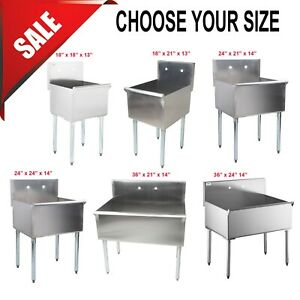 Choose Your Variations Freestanding Utility Stainless Steel 16 gauge Commercial