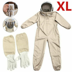 Full Body Anti bee Suit Bee Keeper Suit Veil Hood Safe Protective gloves Szxl Us