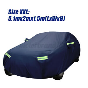Full Car Cover Waterproof All Weather Protection For Sedan Up To 200l Deep Blue Fits 1968 Mustang