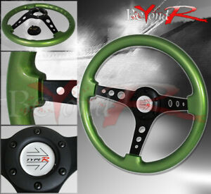 Tracking Drifting Road Race Tuning Sport Steering Wheel Race Button Horn Badge