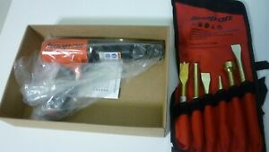 New Snap On Super Duty Air Hammer Red Color With New 6 Piece Bit Set