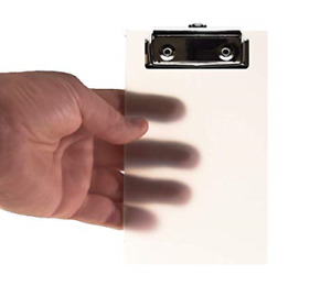 Primo Factotum Mini Clipboard Frosted Transparent 4 X 6 Inch 2 Pack