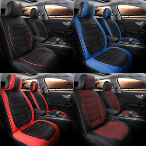 For Chevy Silverado 1500 5 Seats Car Seat Covers Pu Leather Front Rear Cushion