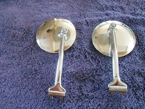 Polished Stainless Peep Mirrors Hot Rod Street Rod