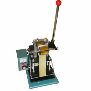 Used 11 5x18cm 110v Hot Foil Stamping Machine For Leather pvc Card Manual Press