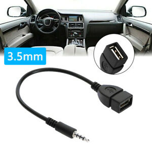 1x Car Audio Aux Jack To Usb 2 0 Type A Female Converter Adapter Cable Car Parts