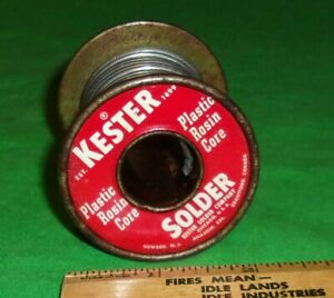 Vintage Roll Kester Lead tin Wire Solder 9 Ounces 1950 s