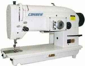 Consew 199r Single needle Drop feed Stitch Type 3a W Table Motor table