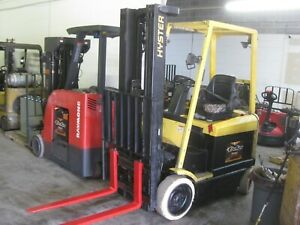 Hyster 4 500 Lb Electric Forklift Low Hours Excellent Recon Battery