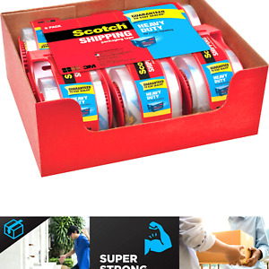 Scotch Heavy Duty Packaging Tape 1 88 X 22 2 Yd Designed For Packing Ship