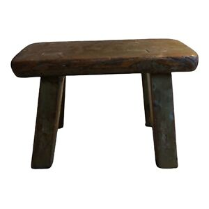 Primitive Mortise And Tenon Tiny Wooden Stool