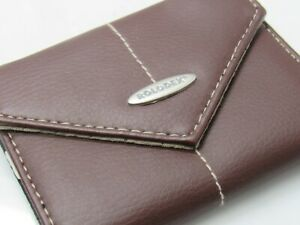 Stunning High Quality Rolodex Brown Leather Personal Card Case
