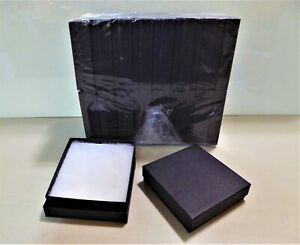 Jewelry Gift Boxes 36 Count Black Matte Cotton Filled 3 5 X 3 5 X 1