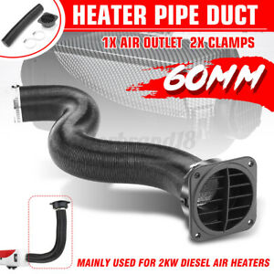 60mm Diesel Heater Duct Pipe Warm Air Vent Outlet For Webasto Eberspacher Propex