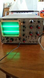 Ballantine Portable Dual trace Channel Oscilloscope 1040a Nice Working Vintage