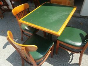 48 X 48 Commercial Restaurant Tables With 4 Wooden Chairs