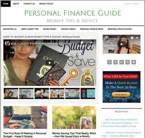 Personal Finance Turnkey Affiliate Website Business For Sale W Auto Content