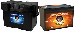 Vmax Mr127 Battery Box For Skater Boat Trolling Mtr Marine Dp Cycle Battery