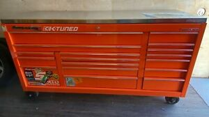 Large Orange Snap On 73 Long X 24 17 Drawer Rolling Tool Chest Cart K Tuned
