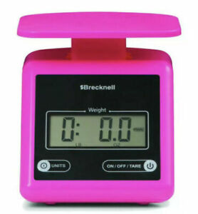 Brecknell Ps7 Electronic Portable Parcel Scale 7 Lb X 0 5 Oz Pink Brand New
