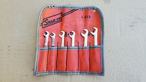 Snap On No C 65d 6 Piece 4 Way Angle Open End Ignition Wrench Set
