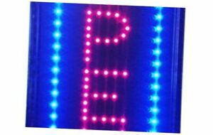 Led Neon Light Open Sign With Animation On off And Power Vertical Open Ln100