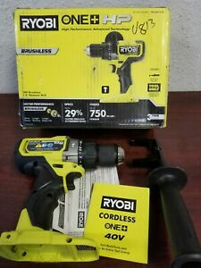 Ryobi Pblhm101b tool Only One Hp 18v Brushless Cordless 1 2 In Hammer Drill