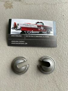 Chevy Nomad Safari 1955 1956 1957 Tailgate Un Chromed Cable Retainer Cups Usa