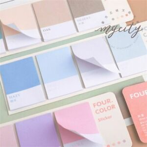 Color Notes Color Diy Decoration Sticky Note Four Colors Notepad Memo Pad