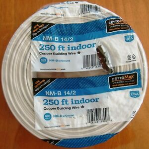 250 Roll Of 14 2 W ground Nm b Indoor Copper Electrical Wire Cerromax