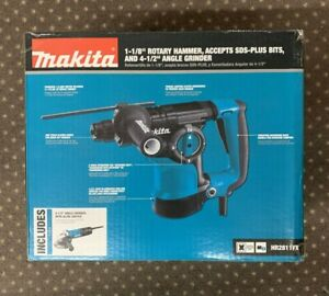 Makita Hr2811fx 1 1 8 Inch Rotary Hammer Drill With Angle Grinder New In Box