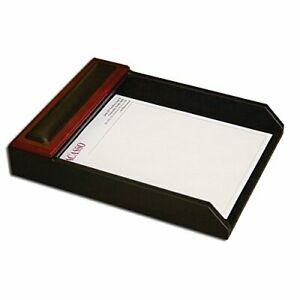 Dacasso Rosewood And Leather Letter Tray