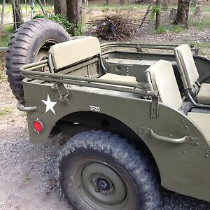 Wwii Willys Mb Ford Gpw Military Army Jeep Top Bow Assembly