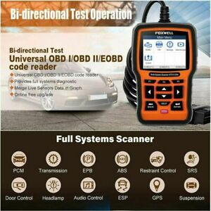 Foxwell Bi Directional Obd2 Scanner All System Diagnostic Scan Tool Code Reader