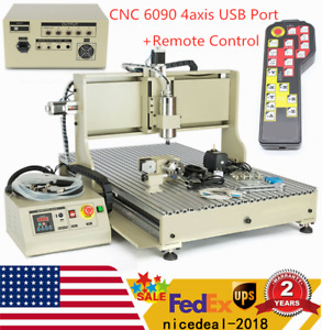 Usb 4 Axis Cnc 6090 Router Milling Engraving Engraver Cutting Machine controller