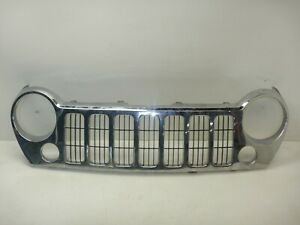 Jeep Liberty Kj 05 07 Oem Front Grill Grille Chrome Silver Free Shipping Fits Jeep Liberty