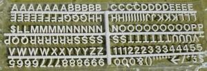Letters Numbers 320 Changeable Plastic Symbols Menu Message Board White New 5 8