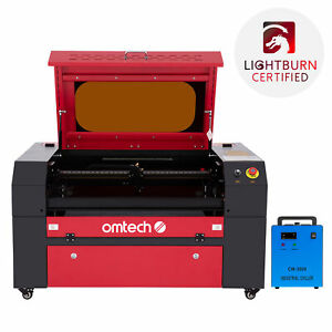 Omtech 60w 20x28in Workbed Co2 Laser Engraver Cutter With Cw3000 Water Chiller