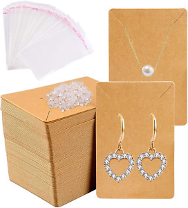 150pcs Earrings And Necklace Display Cards With Self sealing Bags Earring Card H