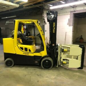 2017 Hyster S120ft prs 12000lbs Used Forklift 5800 Hours 60 Roll Clamp Lp Gas