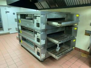 Middleby Marshall Ps570s Triple Stack Gas Conveyor Pizza Oven