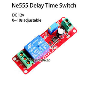 Dc 12v Ne555 Adjustable Time Delay Turn On off Timing Switch Timer Relay Module