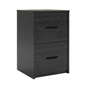 Wood Cabinet 2 Spacious Drawer Home Office File Small Space Organizer Box New