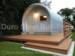 Durospan Steel 25 x20 x14 Metal Building Shop Home Kits Open Ends Factory Direct