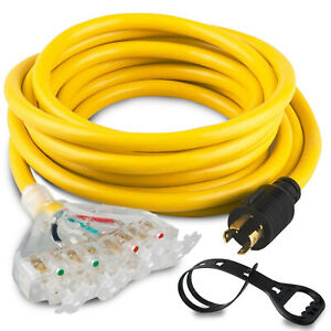25feet 10awg L14 30p To 5 20r Generator Adapter Extension Cord Generator Cable