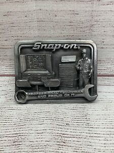 Vintage Snap On Tools Belt Buckle Creative Factor Pewter Professional Technician