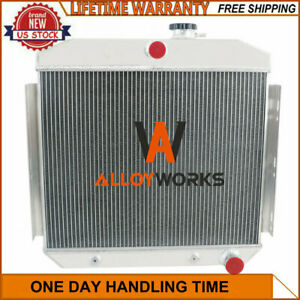 New Listingaluminum 4 Row Radiator For 1955 1957 Chevy Bel Air Del Ray Nomad V8 L6 Engine