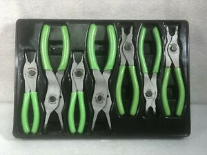 Snap On 7 Pc Snap Ring Pliers Set Green Srpcr107g