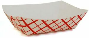 5lb Paper Food Trays Durable Holds Nachos Fries Hot Corn Dogs
